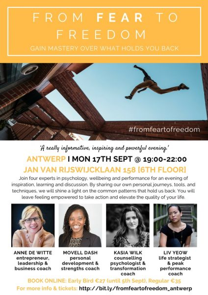 """Dr Wilk to speak at """"From Fear To Freedom"""" event in Antwerp"""